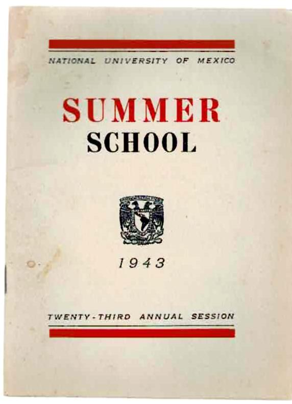 Image for National University of Mexico: Summer School, for Foreign Students 1943