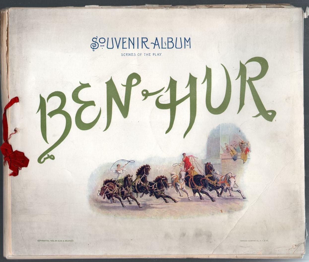 Image for Ben Hur: Souvenir Album - Scenes from the Play