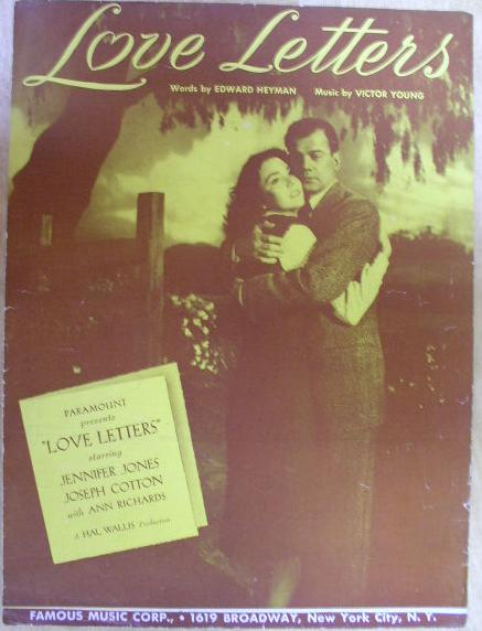 "Image for ""Love Letters"" Original Sheet Music"