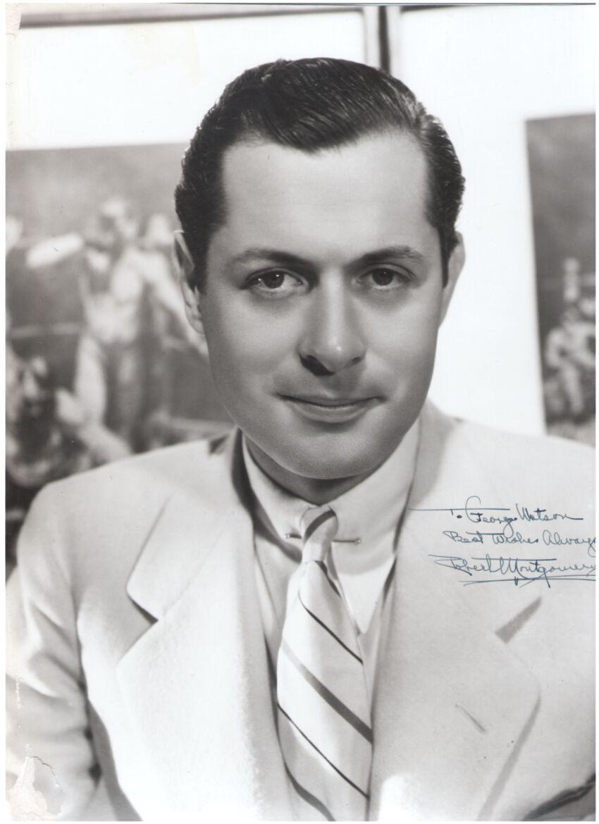 Robert Montgomery Signed MGM Photograph