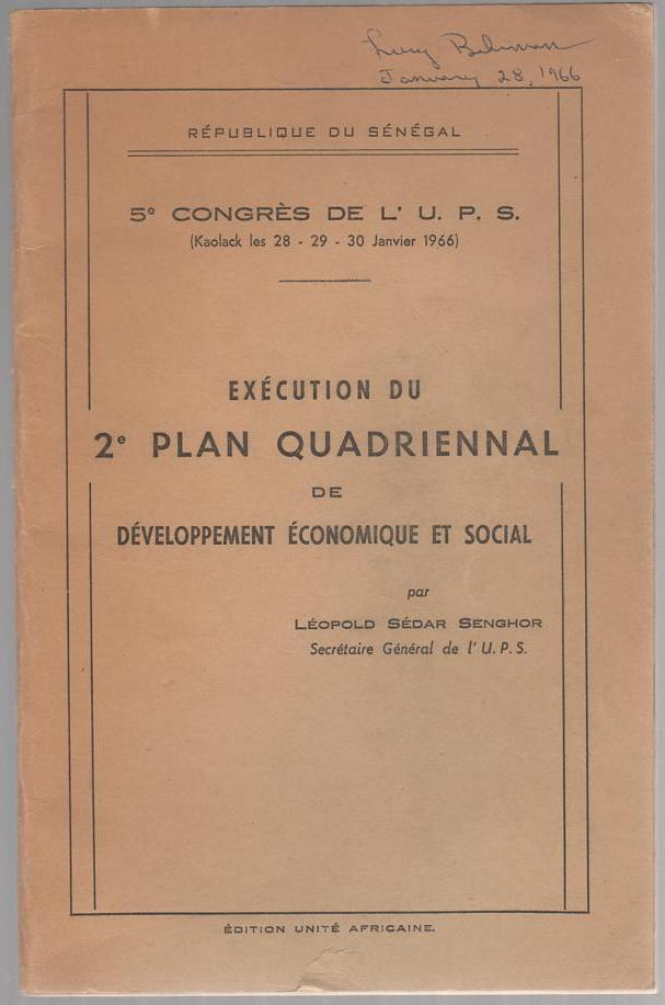 Image for Execution du 2e Plan Quadriennal de Developpement Economique et Social (Execution of the Second Four-Year Plan of Economic and Social Development)