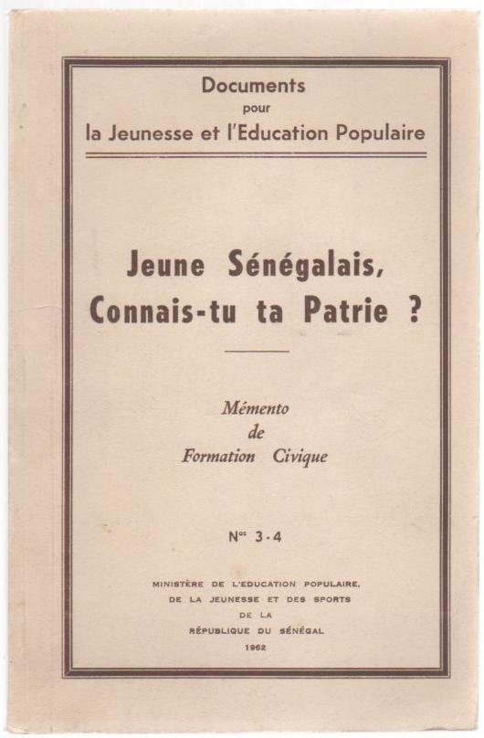 Image for Jeune Senegalais, Connais-tu ta Patrie? (Young Senegalese, You Know Your Country?)