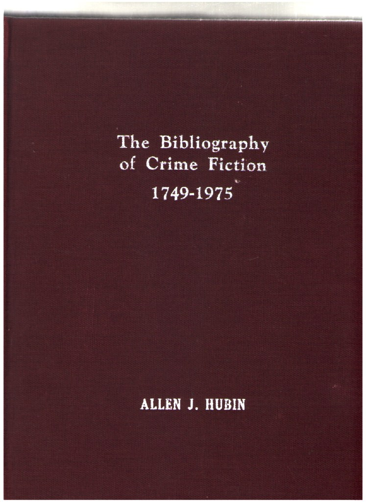 Image for The Bibliography of Crime Fiction, 1749-1975