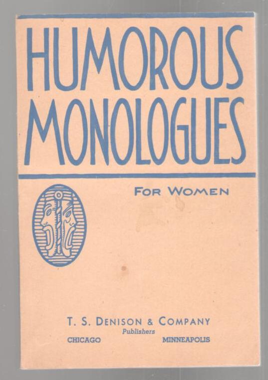 Image for Humorous Monologues for Women