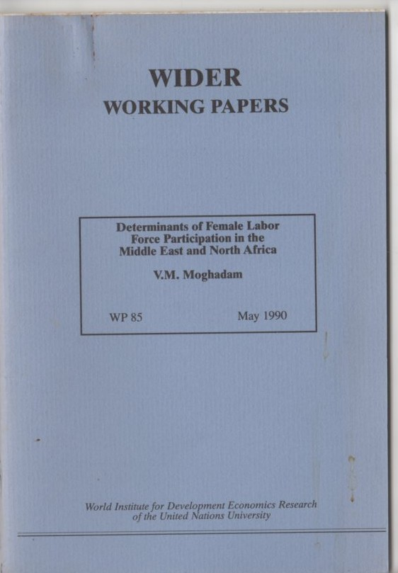 Image for Determinants of Female Labor Force Participation in the Middle East and North Africa (Wider Working Papers 85)