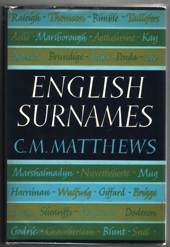 Image for English Surnames