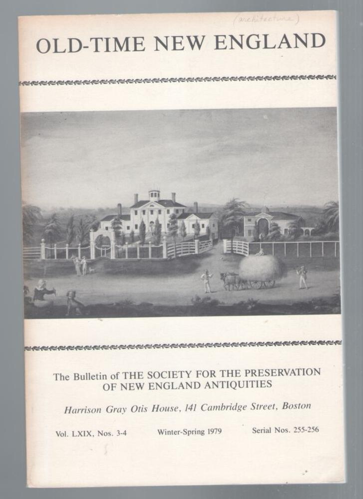 Image for Old-Time New England: Volume 69, No.3-4