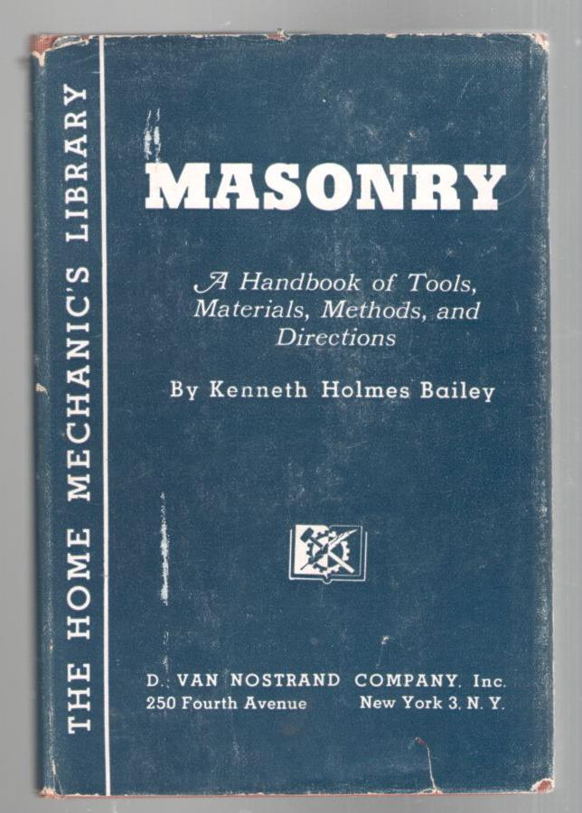 Image for Masonry: A Handbook of Tools, Materials, Methods, and Directions