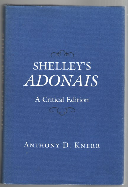 Image for Shelley's Adonais: A Critical Edition