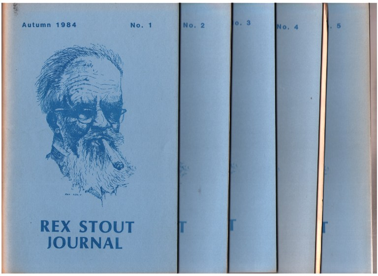 Rex Stout Journal - Complete run of five issues