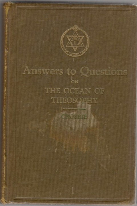 Image for Answers to Questions on the Ocean of Theosophy