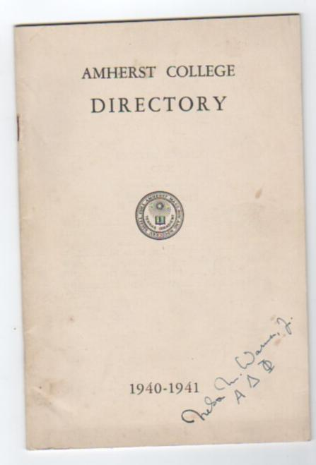 Image for Amherst College Directory 1940-1941
