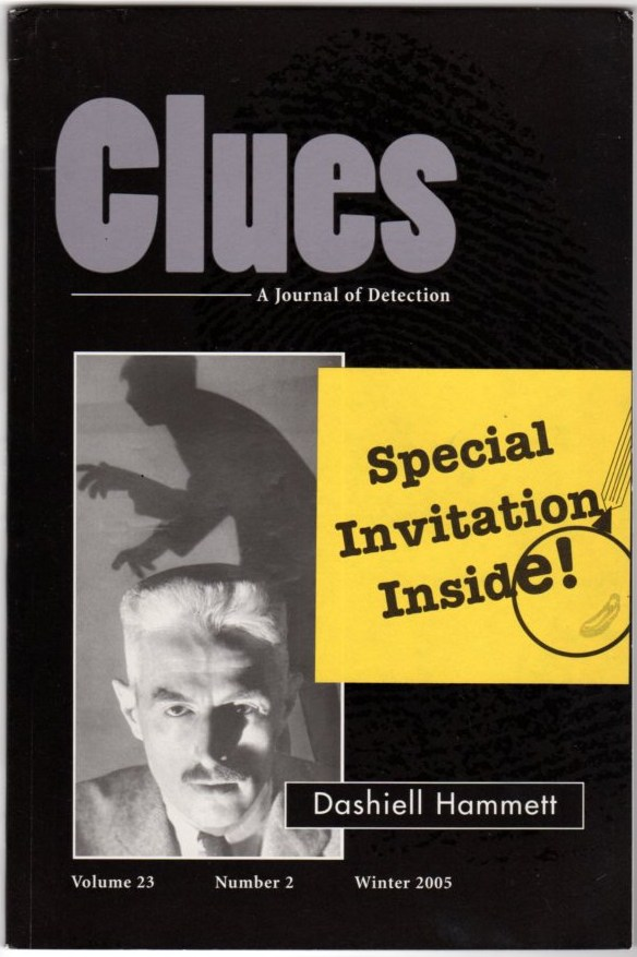 Image for Clues: A Journal of Detection  Special Dashiell Hammett Issue