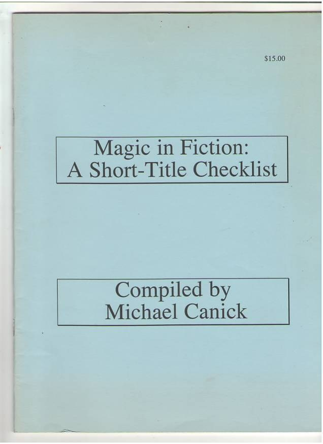 Image for Magic in Fiction: A Short-Title Checklist
