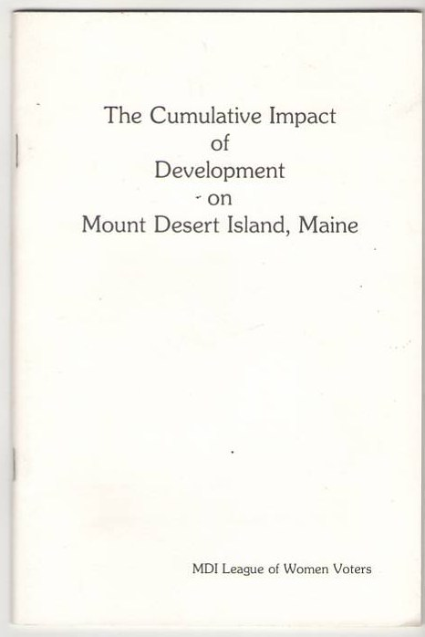 Image for The Cumulative Impact of Development on Mount Desert Island, Maine