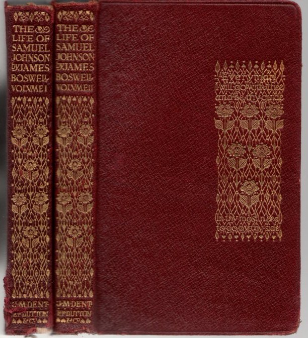 Image for The Life of Samuel Johnson 2 volumes (Everyman's Library)