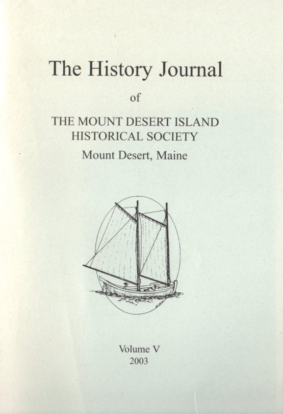 Image for The History Journal of The Mount Desert Island Historical Society