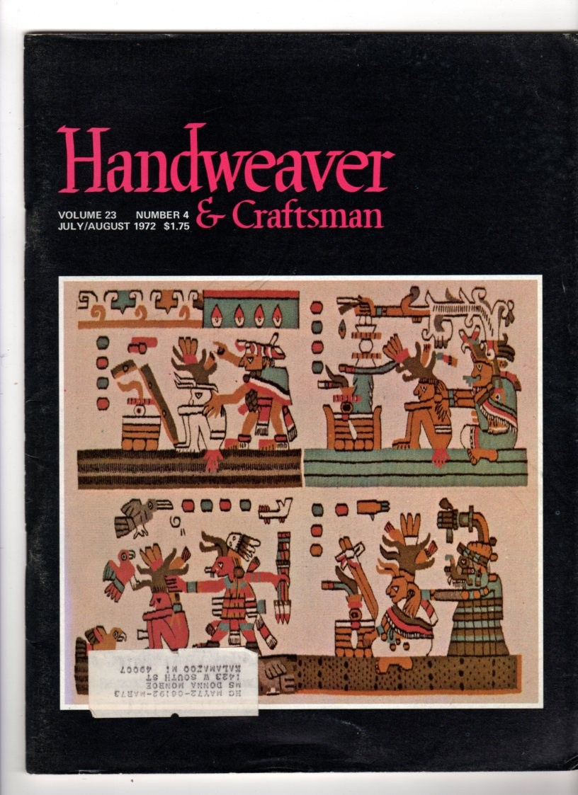 Image for Handweaver & Craftsman July/Augus 1972, Volume 23, No 4