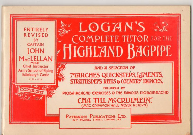 Image for Logan's Complete Tutor for the Highland Bagpipe