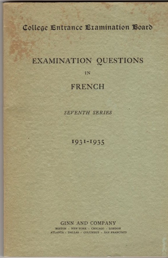 Image for Examination Questions in French: Seventh Series 1931-1935