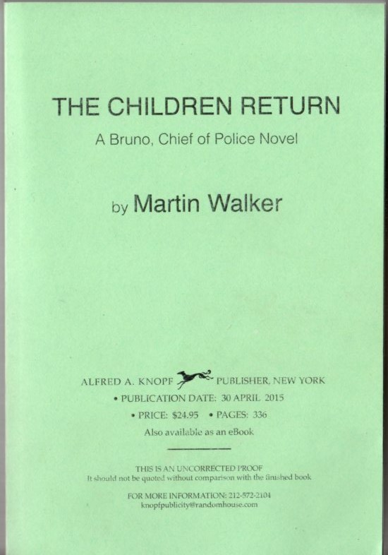 Image for The Children Return: A Bruno, Chief of Police Novel