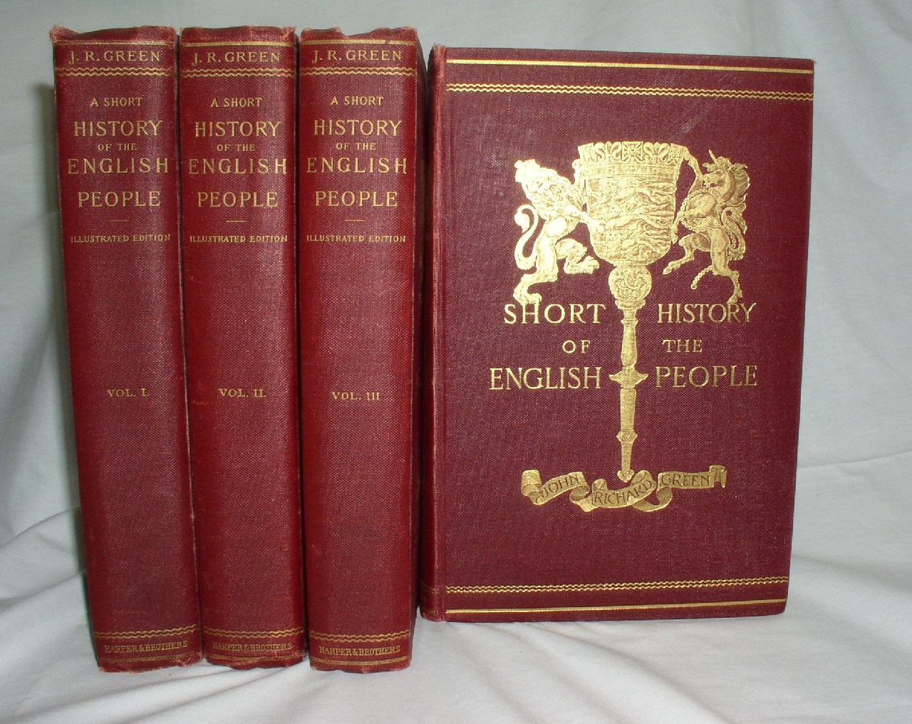 Image for A Short History of the English People (Illustrated Edition)