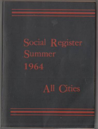 Image for Social Register Summer 1964 All Cities