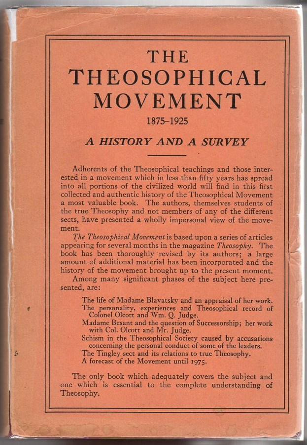 Image for The Theosophical Movement 1875-1925: A History and a Survey