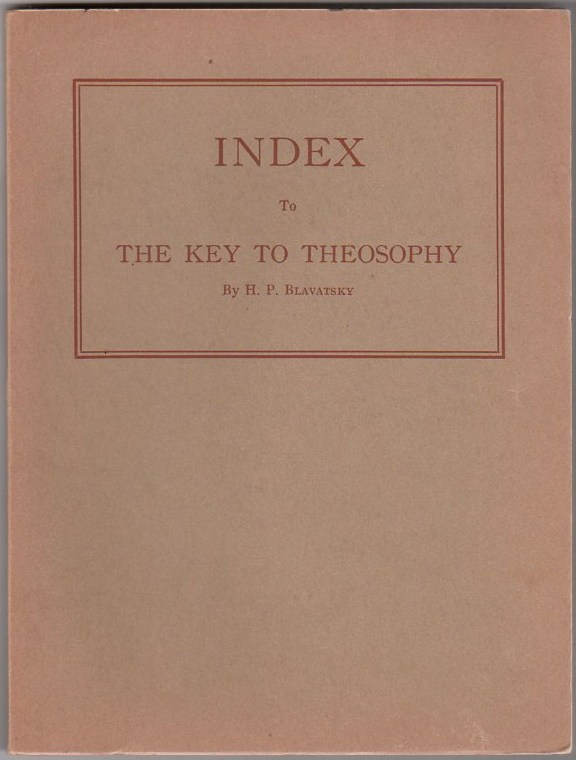 Image for Index to The Key to Theosophy