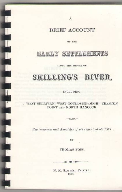 Image for A Brief Account of the Early Settlements Along the Shores of Skilling's River