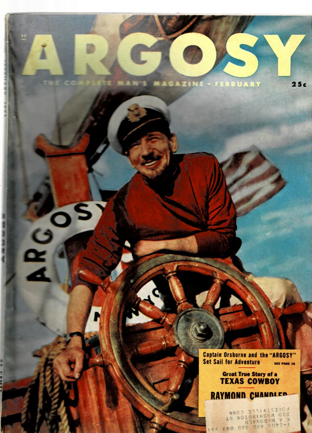 "Image for ""The King in Yellow"" reprinted in Argosy Magazine, February, 1951"
