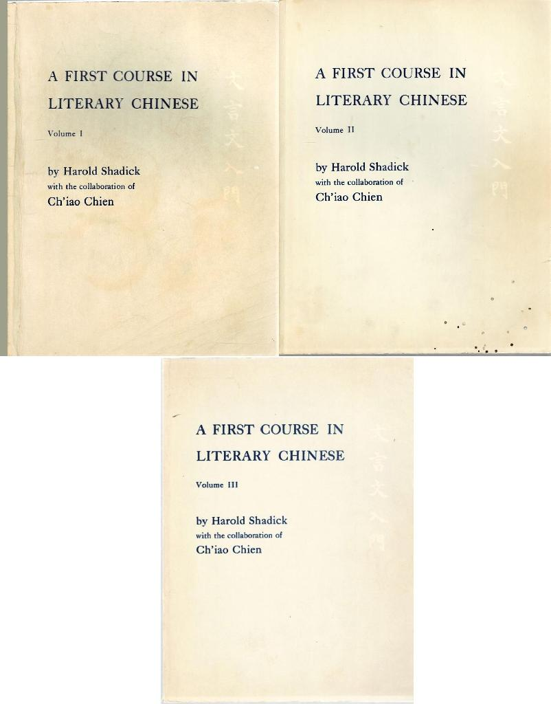Image for A First Course in Literary Chinese Volume III