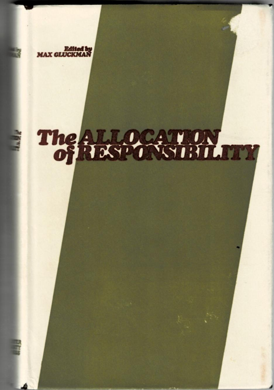 Image for The Allocation of Responsibility