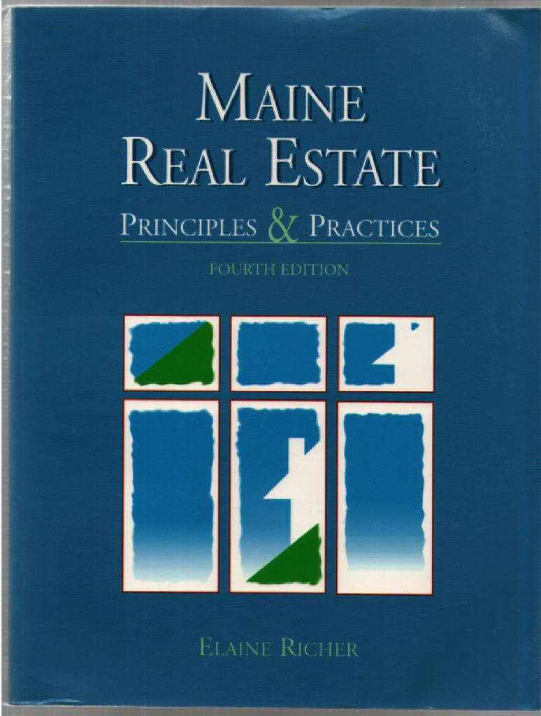 Image for Maine Real Estate: Principles and Practices
